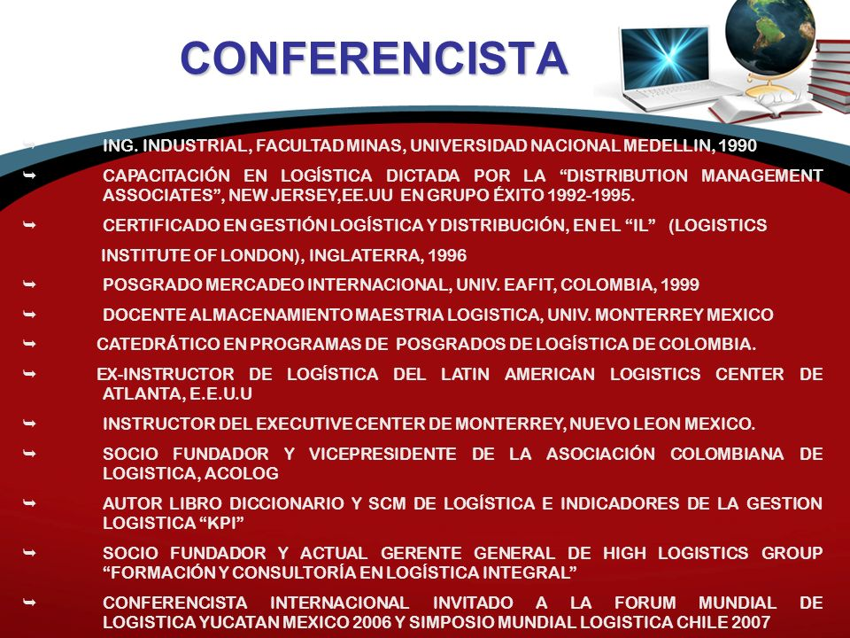 CONFERENCISTA ING.