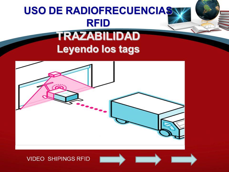 USO DE RADIOFRECUENCIAS RFID TRAZABILIDAD Leyendo los tags VIDEO SHIPINGS RFID