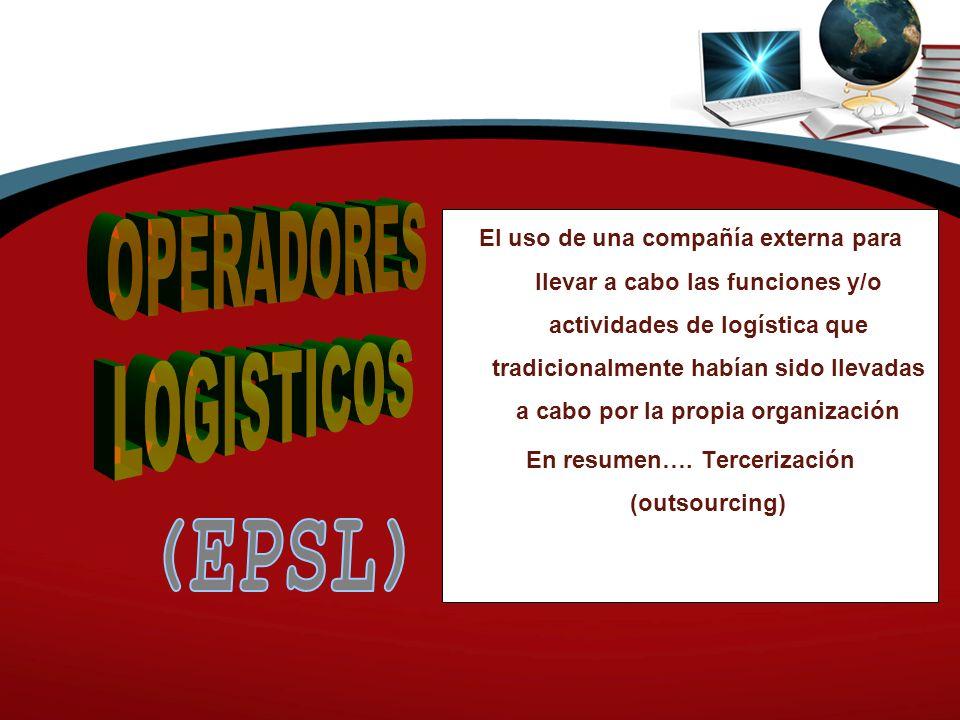 El uso de una compañía externa para llevar a cabo las funciones y/o actividades de logística que tradicionalmente habían sido llevadas a cabo por la propia organización En resumen….