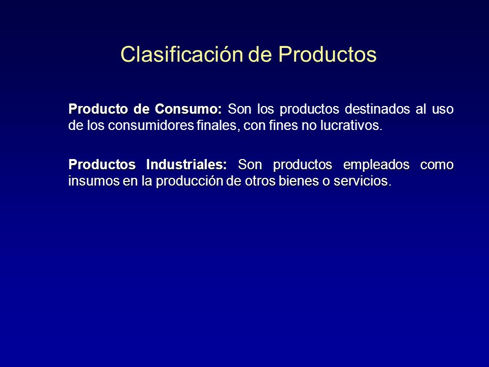 Clasificación de Productos Productos No buscados Productos No buscados Productos de Especialidad Productos de Especialidad Productos de Comparación Pr