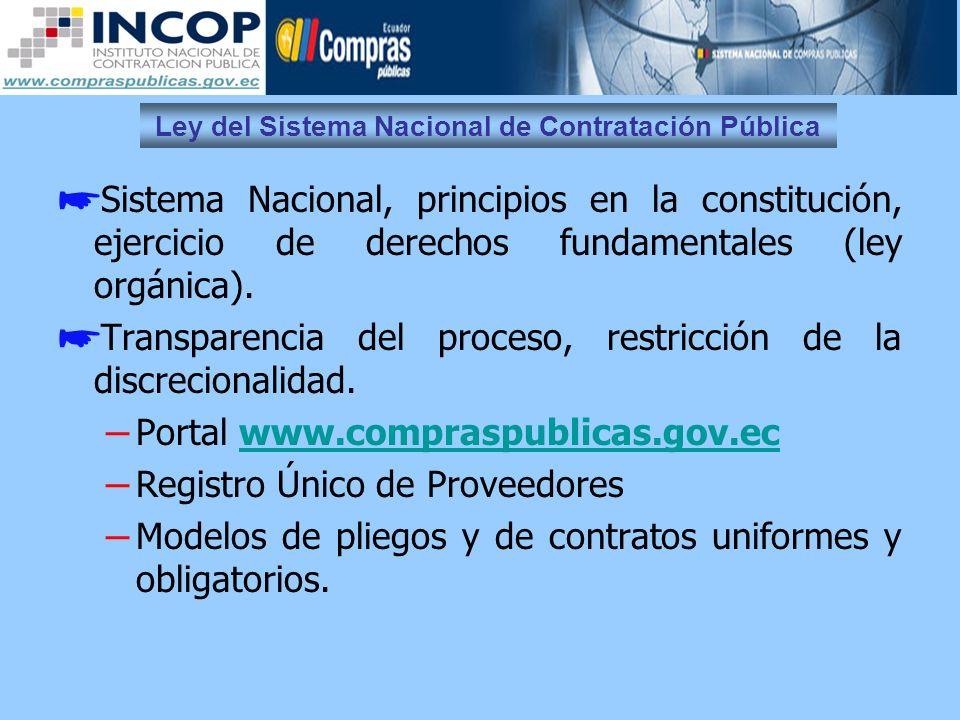 Ley del Sistema Nacional de Contratación Pública Participación nacional y local preferente.