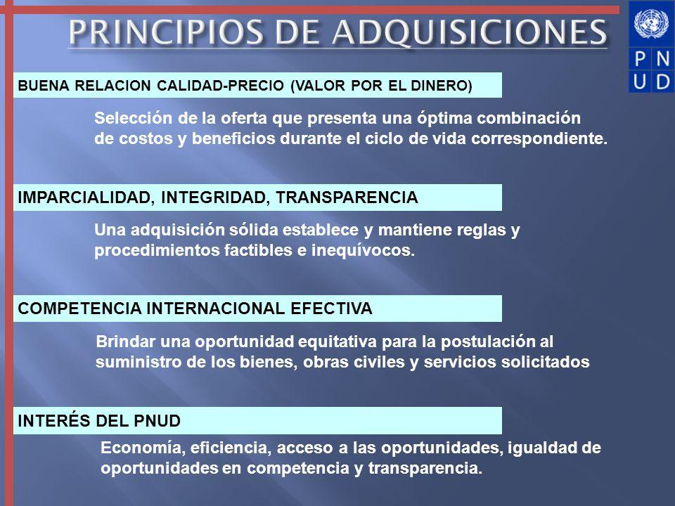 Se requiere que el personal autorizado se adhiera a las Políticas y Procedimientos de Adquisiciones.