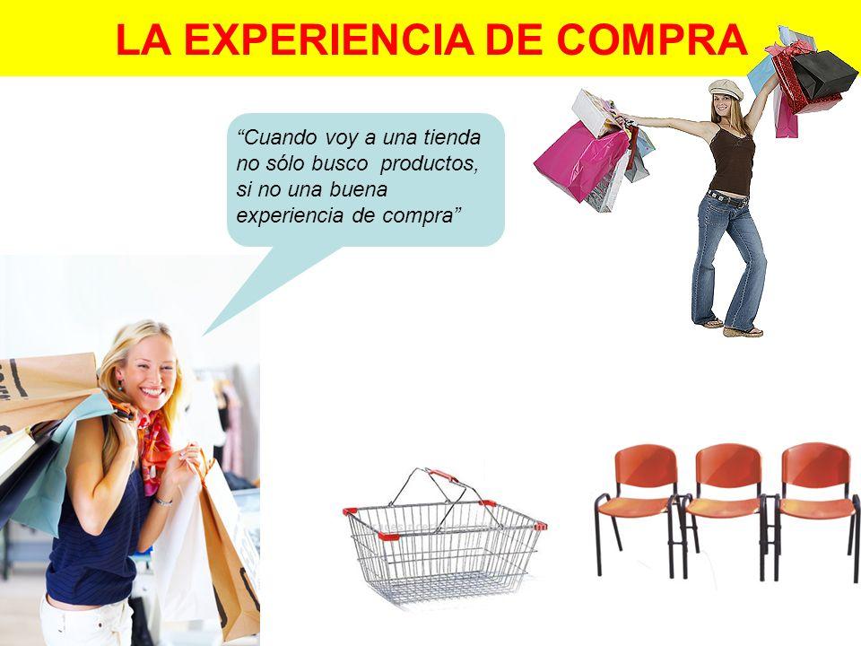 LA EXPERIENCIA DE COMPRA Cuando voy a una tienda no sólo busco productos, si no una buena experiencia de compra