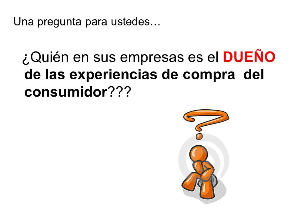 Una pregunta para ustedes… ¿Quién en sus empresas es el DUEÑO de las experiencias de compra del consumidor???