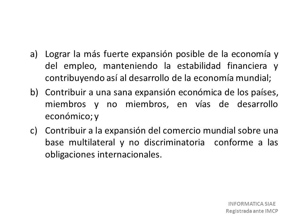 Cada país que ingresa se compromete a aplicar los principios de: liberación, no discriminación, trato nacional y trato equivalente.