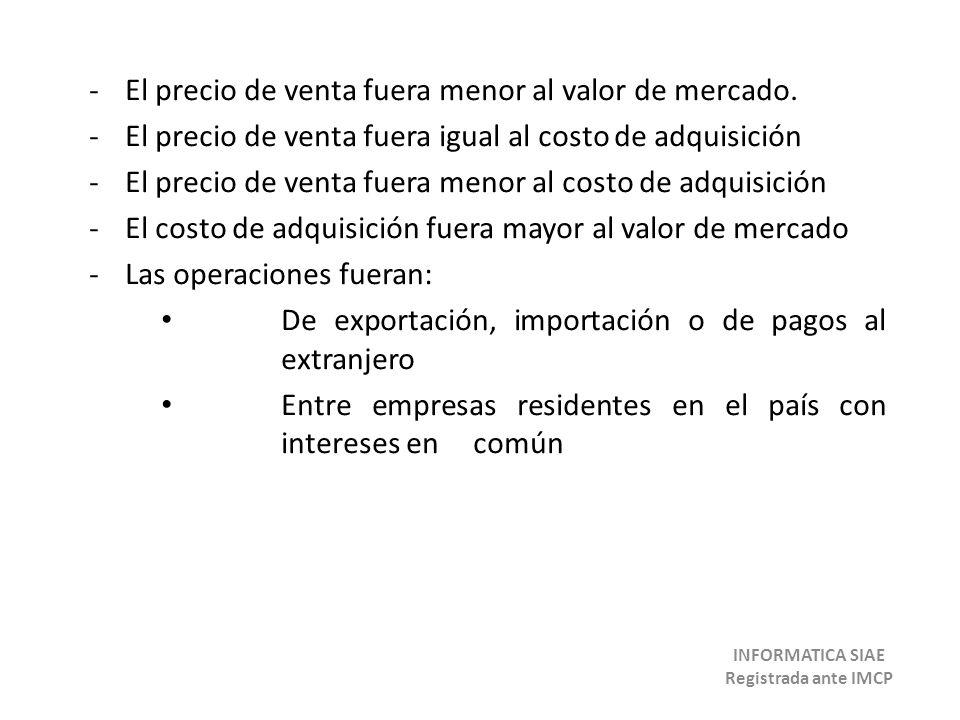 Presunción de valores de las operaciones entre EPS ubicados en México de contribuyentes residentes en el extranjero al enviar o recibir bienes de su oficina central (art 65 LISR).