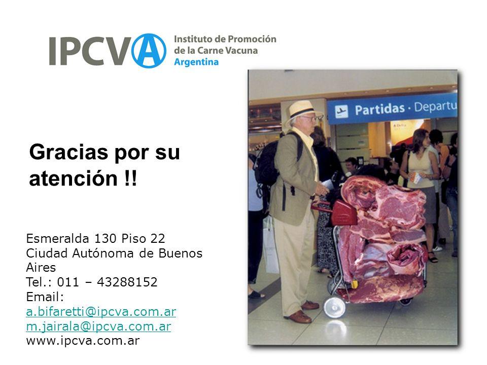 45 Gracias por su atención !! Esmeralda 130 Piso 22 Ciudad Autónoma de Buenos Aires Tel.: 011 – 43288152 Email: a.bifaretti@ipcva.com.ar a.bifaretti@i