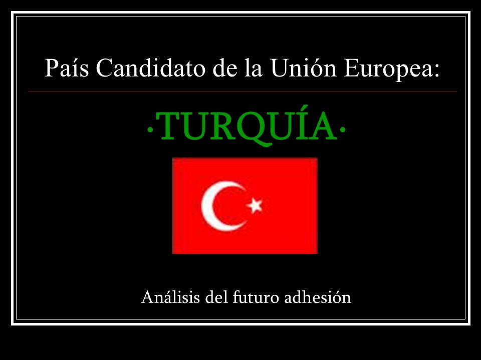 País Candidato de la Unión Europea: ·TURQUÍA· Análisis del futuro adhesión