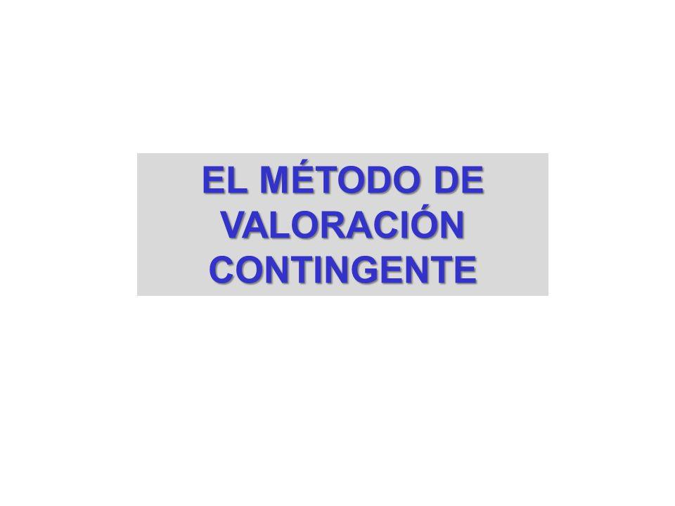 EL MÉTODO DE VALORACIÓN CONTINGENTE