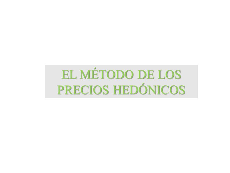 EL MÉTODO DE LOS PRECIOS HEDÓNICOS