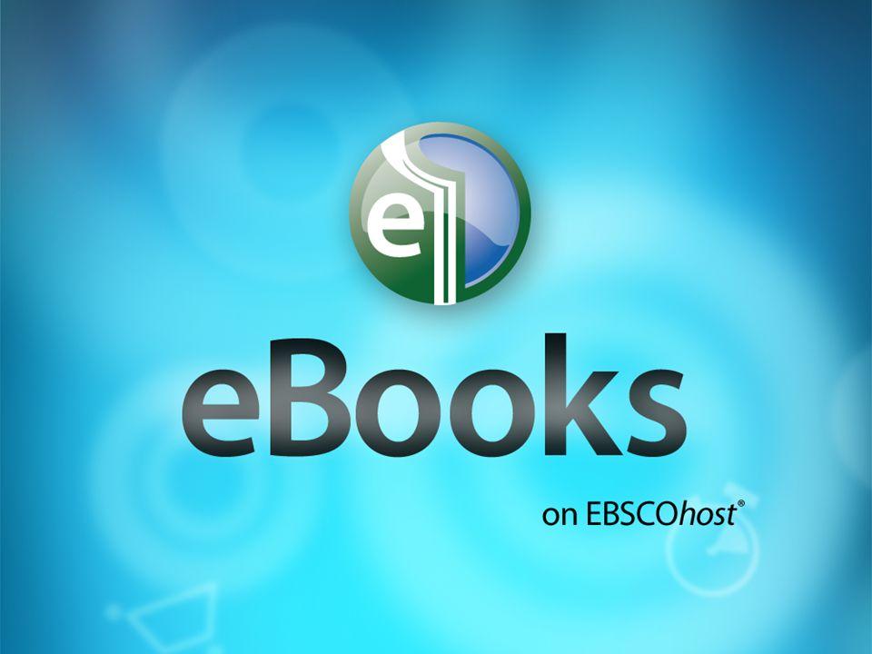 CATÁLOGO Online los eBooks de EBSCO EBSCOhost Collection Manager (ECM) Catálogo completo de todas las obras electrónicas disponibles en EBSCO Posibilidad de búsqueda por título, autor, tema, editorial, etc.
