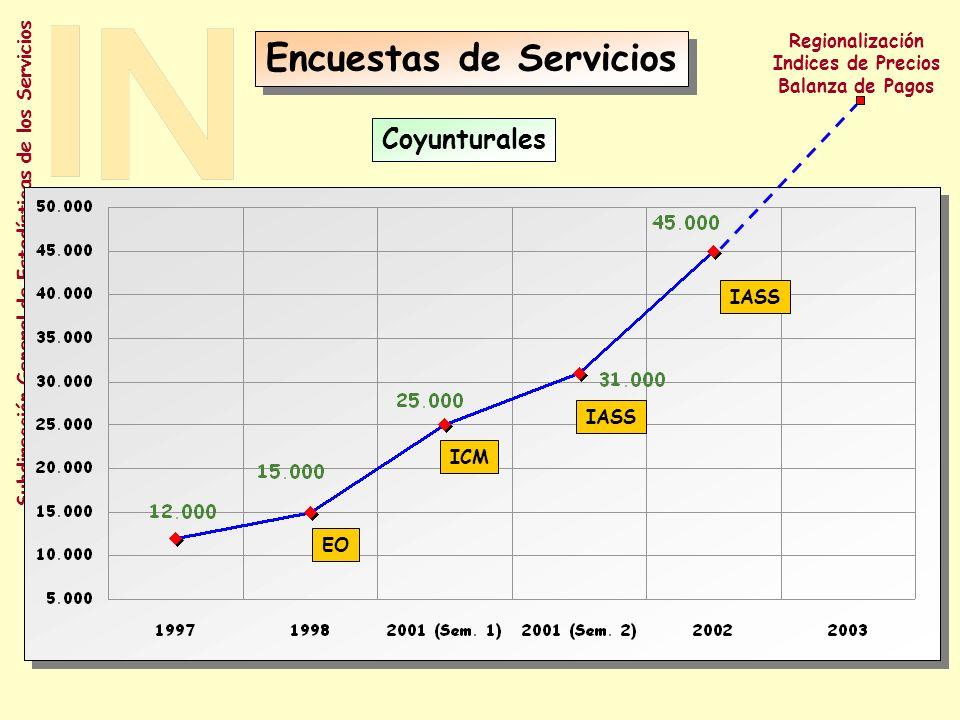 Subdirección General de Estadísticas de los Servicios Evolución - Información Anual Encuesta de Servicios Regionalización Reglamento SBS Limite máximo
