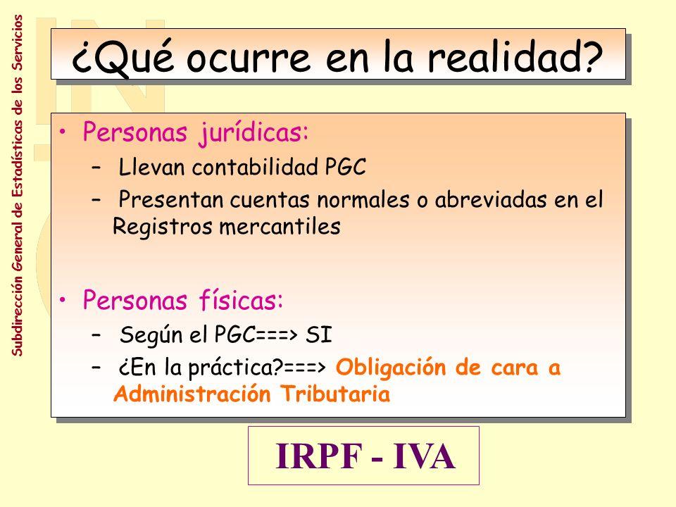 Subdirección General de Estadísticas de los Servicios ¿Contabilidad.