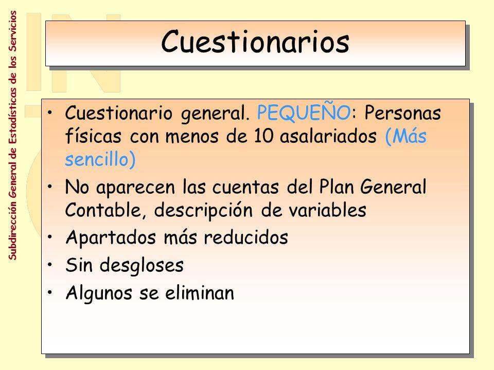 Subdirección General de Estadísticas de los Servicios