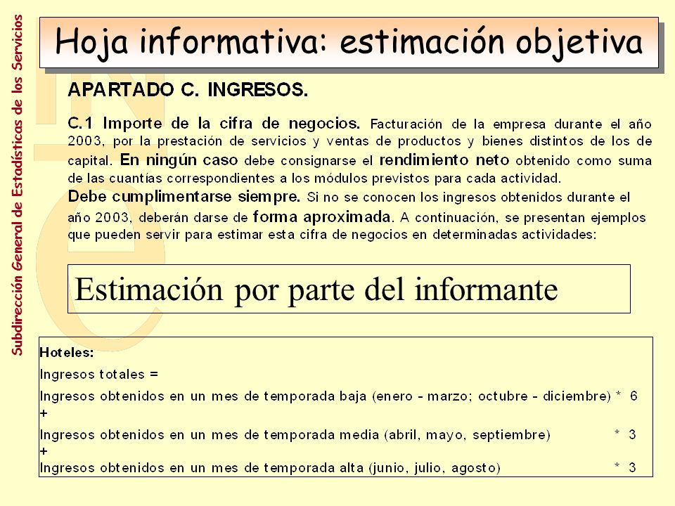 Subdirección General de Estadísticas de los Servicios Sin códigos de PGC No destino de ventas: CCAA, UE, RM