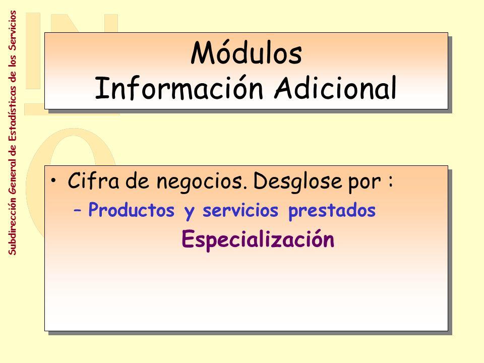 Subdirección General de Estadísticas de los Servicios Hoja informativa: estimación objetiva Estimación por parte del informante