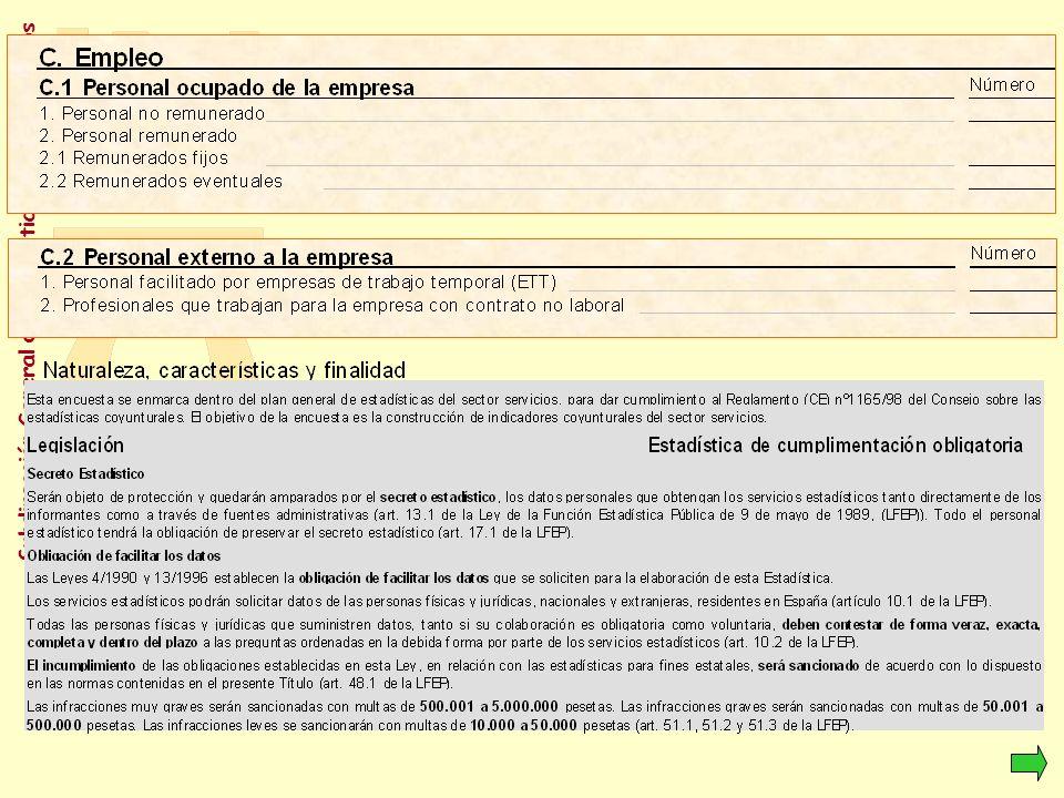 Subdirección General de Estadísticas de los Servicios Indicadores de actividad del sector servicios