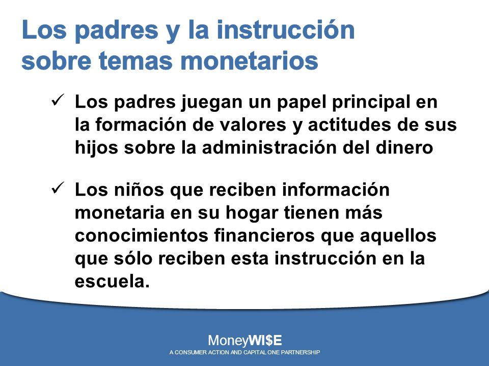 Los padres juegan un papel principal en la formación de valores y actitudes de sus hijos sobre la administración del dinero Los niños que reciben info