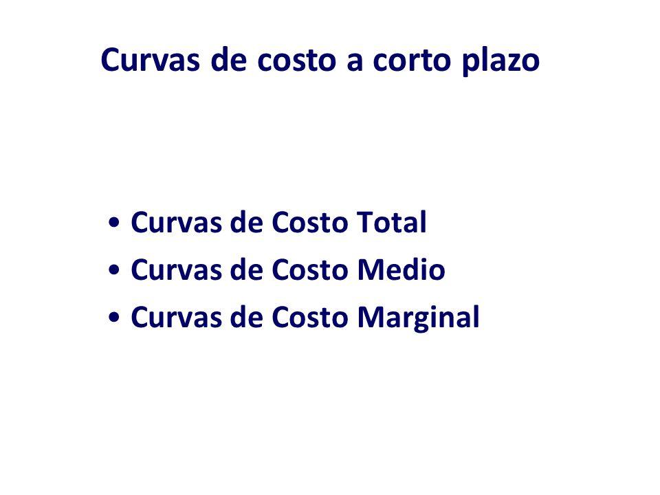 Costo Medio costo por unidad de producto Costo Fijo Medio (CFMe) es el costo fijo total por unidad de producto.
