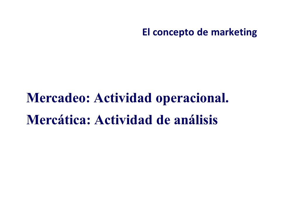 El concepto de marketing Las dos caras del marketing