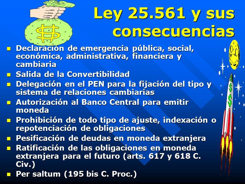 11 de junio de 2002 L EYES 24.522, 25.561, 25.563y 25.589 EMERGENCIA, PESIFICACIÓN y QUIEBRA Daniel Roque Vítolo