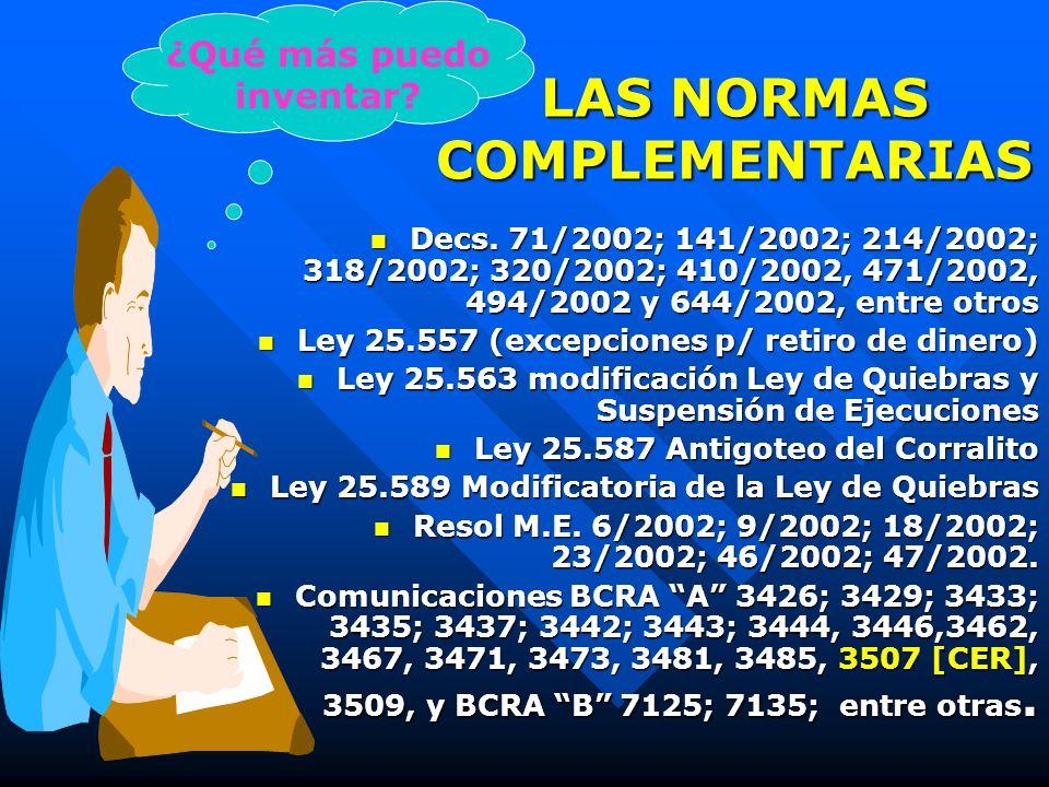 Ley 25.561 y sus consecuencias Declaración de emergencia pública, social, económica, administrativa, financiera y cambiaria Declaración de emergencia