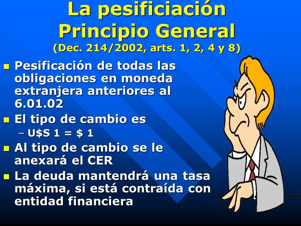 NORMAS ERRANTES Decreto de necesidad y urgencia 214/2002 (pesificación) Decreto de necesidad y urgencia 214/2002 (pesificación) Decreto de necesidad y