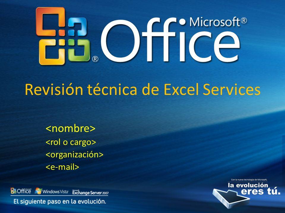 Revisión técnica de Excel Services