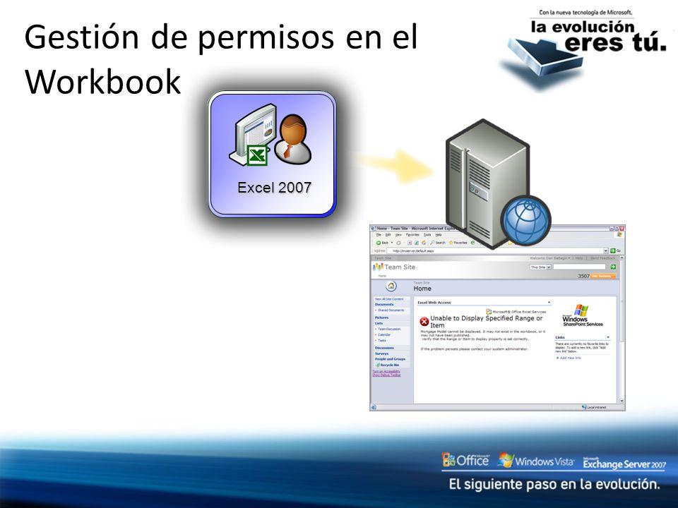 Gestión de permisos en el Workbook Excel 2007