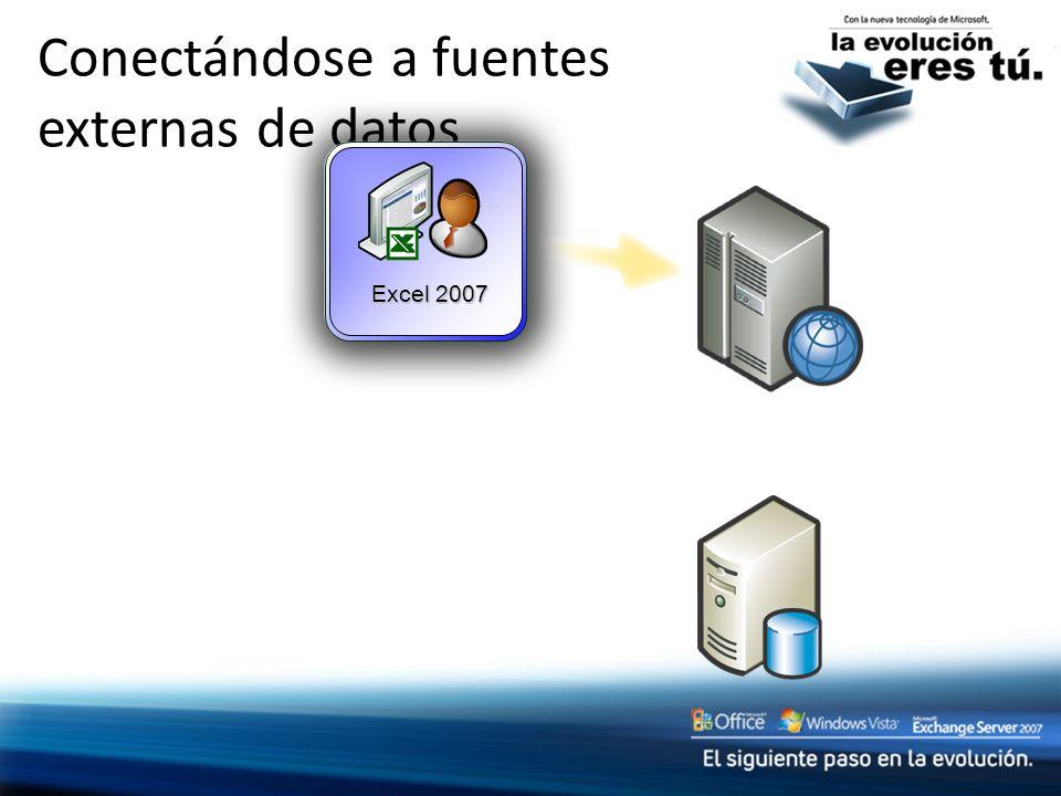 Conectándose a fuentes externas de datos Excel 2007