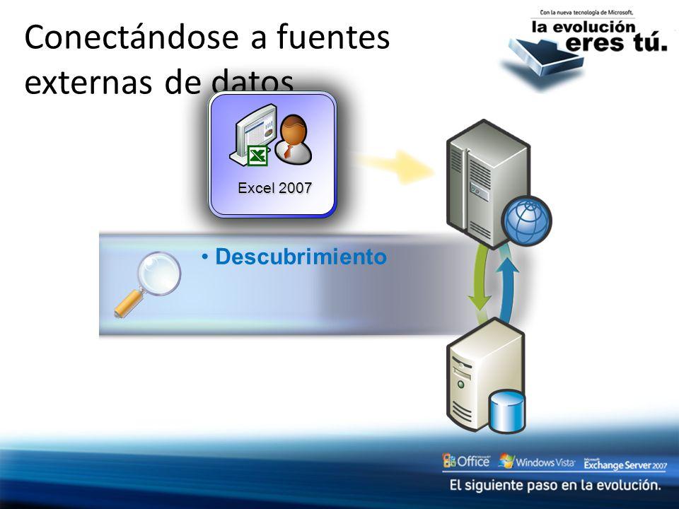 Conectándose a fuentes externas de datos Excel 2007 Descubrimiento
