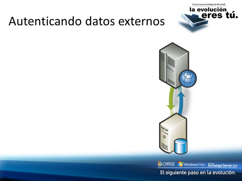 Autenticando datos externos