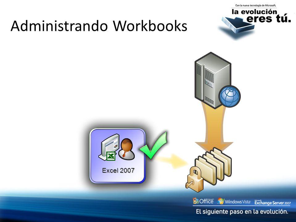 Administrando Workbooks Excel 2007