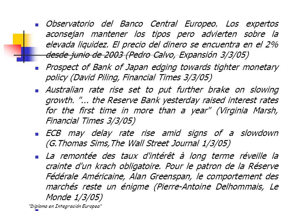 TIPOS DE subasta A tipo fijo El BCE especifica previamente el tipo de interés, y las entidades de contrapartida solicitan la cantidad que desean obtener a dicho tipo.