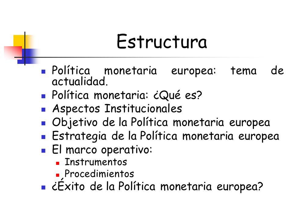 OBJETIVO Estabilidad de precios ESTRATEGIA: objetivo directo Inflación El MARCO OPERATIVO:Instrumentos y procedimientos ?