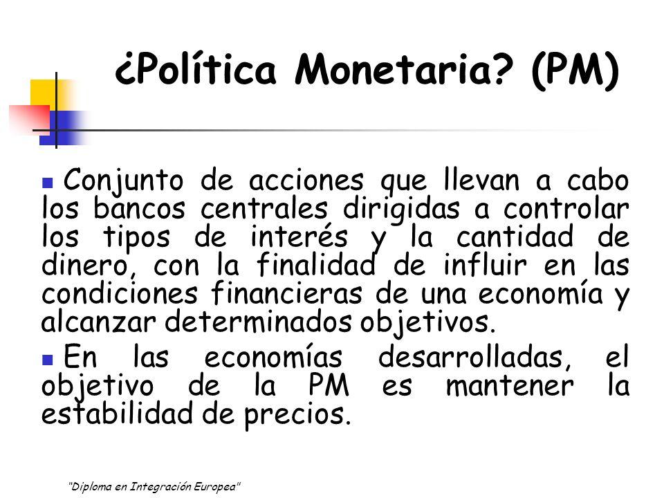 La POLÍTICA MONETARIA ASPECTOS INSTITUCIONALES Una política monetaria europea nueva ¿Quién desarrolla la política monetaria europea.