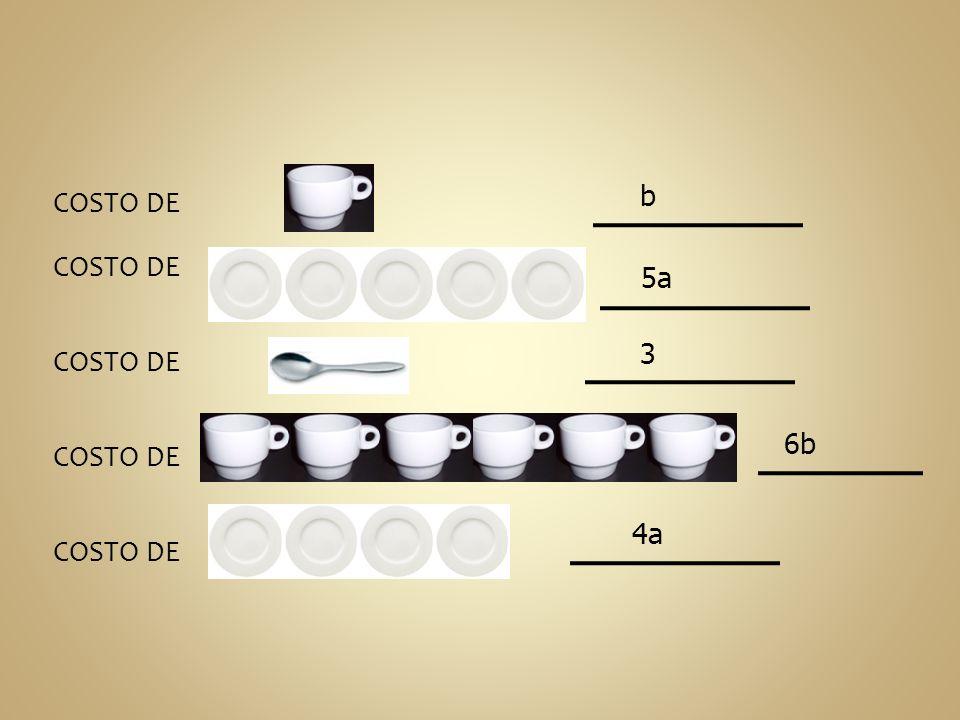 COSTO DE : b 5a 3 6b 4a