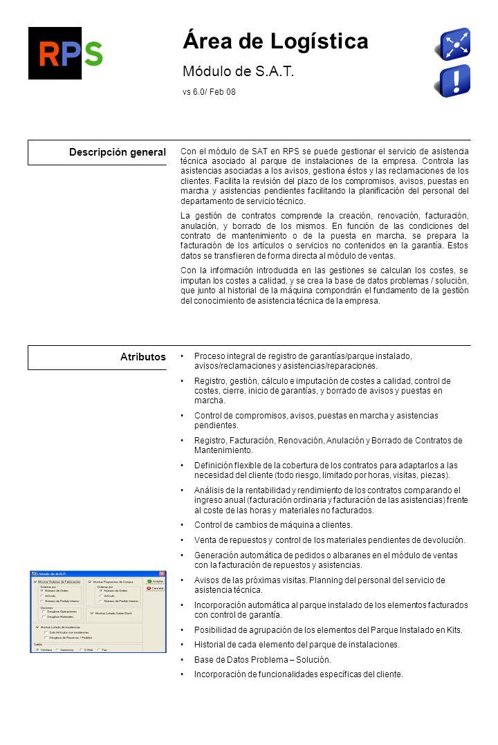 Flujo de información Avisos de anomalías en el funcionamiento de los elementos del parque instalado.
