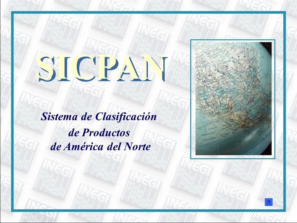 SICPAN Sistema de Clasificación de Productos de América del Norte SICPAN