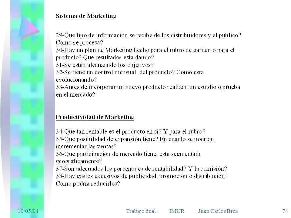 10/05/04Trabajo final IMUR Juan Carlos Brea 74