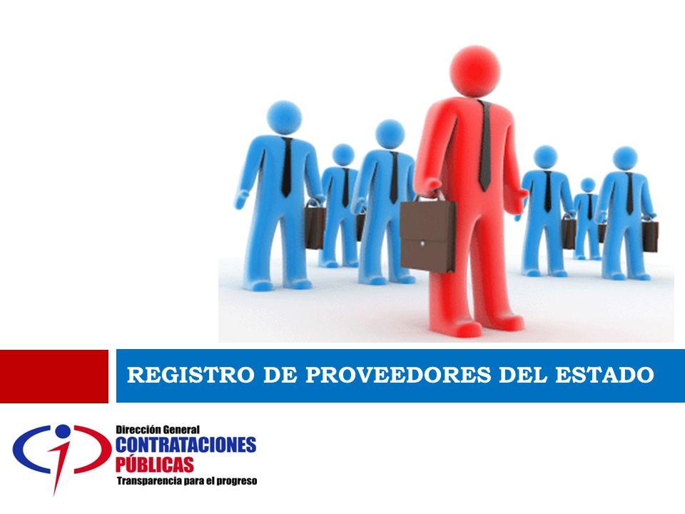 REGISTRO DE PROVEEDORES REGISTRO DE PROVEEDORES DEL ESTADO