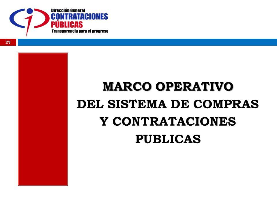 2009 MARCO OPERATIVO DEL SISTEMA DE COMPRAS Y CONTRATACIONES PUBLICAS 23