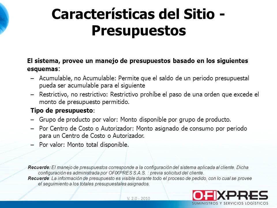 Uso del Sitio - Contáctenos V.1.0 - 2008 El Portal Web de OFIXPRES S.A.S.