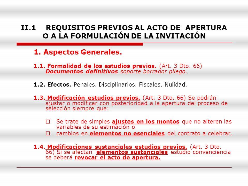 II.TRÁMITE PROCESOS DE SELECCIÓN 1.8. Regla General.