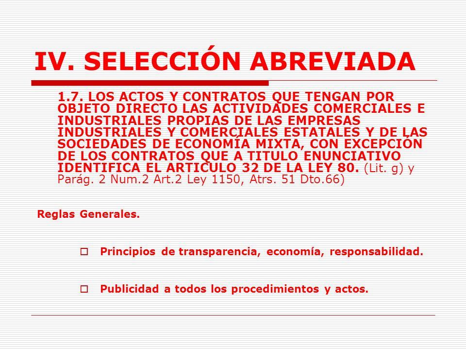 IV.SELECCIÓN ABREVIADA Publicidad.