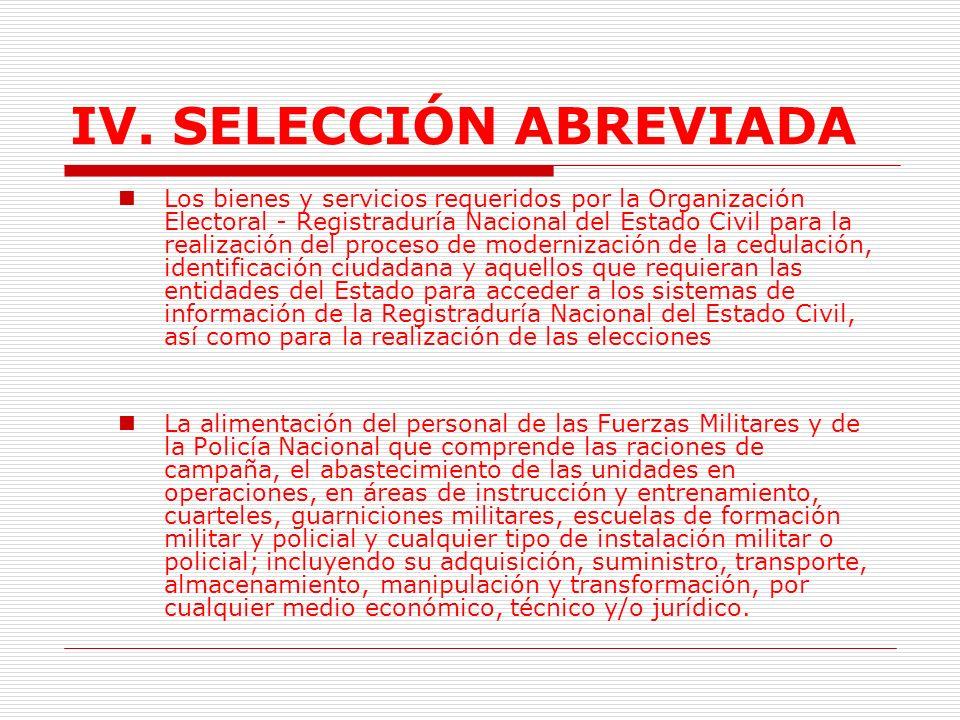 IV.SELECCIÓN ABREVIADA 1.9.2.