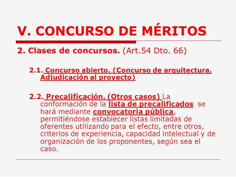 V.CONCURSO DE MÉRITOS 1.3. Objeto Múltiple.