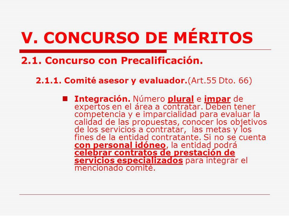 V.CONCURSO DE MÉRITOS 2. Clases de concursos. (Art.54 Dto.