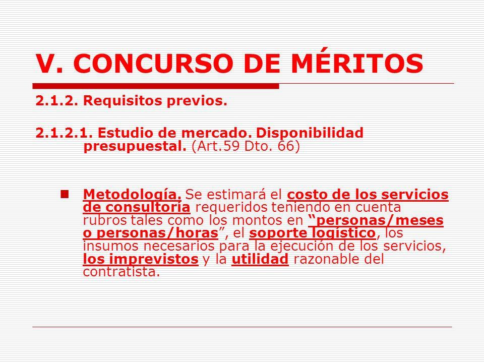 V.CONCURSO DE MÉRITOS Responsabilidades: Asesorar a la entidad durante el proceso de selección.