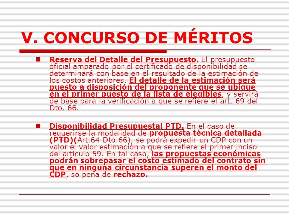 V.CONCURSO DE MÉRITOS 2.1.2. Requisitos previos. 2.1.2.1.